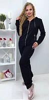 Спортивный костюм из трикотажа черного цвета 50-54 размеры