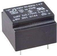 EI2020157 трансформатор 0,5VA, 230V, 9 V 55mA