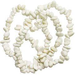 Бусины Сколы Говлит Белый, Крошка Камня Крупная, Размер: 8-12*4-8 мм., Отв. 1 мм., около 85 см. нить