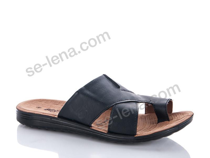 Шлепки Selena №520 siyah (р.40-44).Опт.