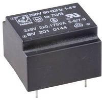 EI2020158 трансформатор 0,5VA, 230V, 2х9 V 28 mA