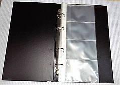 Визитница А5 80визиток 4кольца SOZ 6-300 черная