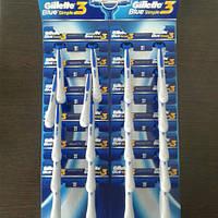 Gillette жиллетт Blue 3 симпли станок мужской одноразовый на листе 24  шт., фото 1