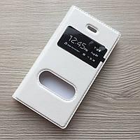 Белый кожаный чехол Iphone 4/4s книжечка