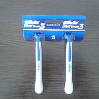 Gillette жиллетт Blue 3 симпли станок мужской одноразовый на листе 24 шт. (цена за одну шт.), фото 1