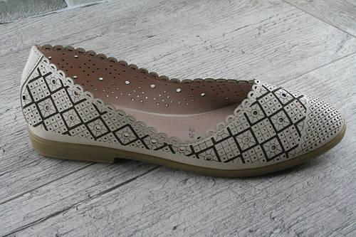 Балетки, туфли женские с перфорацией Fuguishan, обувь женская летняя, повседневная