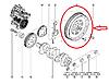 Маховик двигателя на Рено Сценик 3 1.6 dCI R9M Renault 123009701R (оригинал)