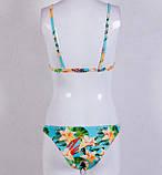Голубой купальник в цветочек Б-884, фото 3