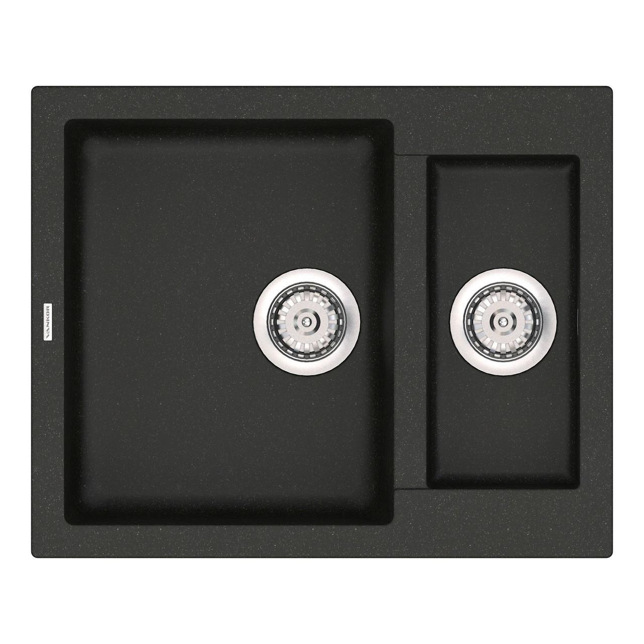 Кухонная мойка кварц 50*61 см VANKOR Orman OMP 03.61 Black