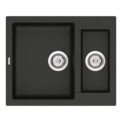 Кухонная мойка кварц 50*61 см VANKOR Orman OMP 03.61 Black, фото 2