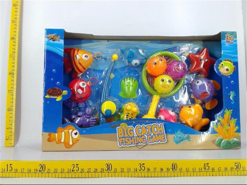 Детская игра рыбалка 15 предметов
