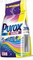 Бесфосфатный стиральный порошок для стирки белого и цветного белья Purox Color 10 кг, 120 стирок