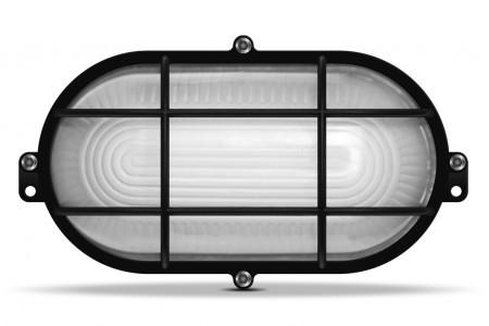 LED Светильник овальный ЖКХ VIDEX 12W 5000K усиленный