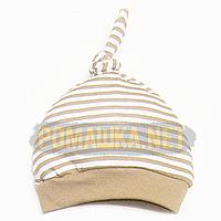 Детская трикотажная шапочка р. 36-38 (20) для новорожденного отлично тянется ткань ИНТЕРЛОК 4059 Коричневый 36