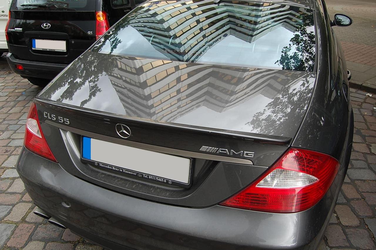 Спойлер Mercedes W219 CLS тюнинг сабля AMG