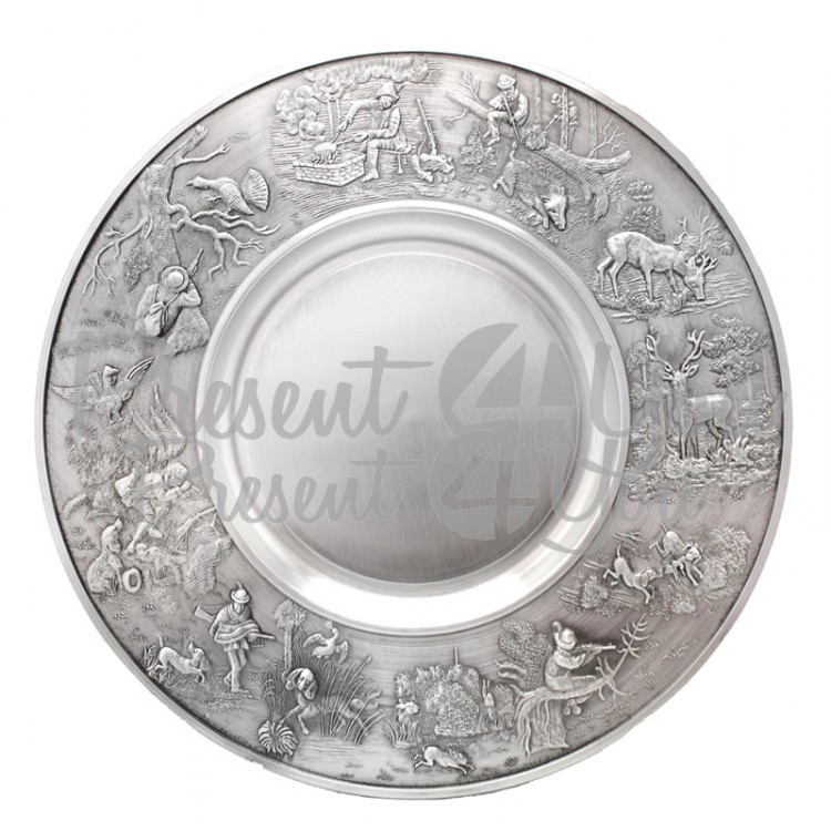 Тарелка декоративная «Охота» Artina SKS, d-24 cм (10071a)