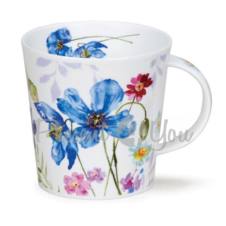 Кружка фарфоровая, Англия «CairnGorm Country garden blue poppy» Dunoon, 480 мл, h-10,4см