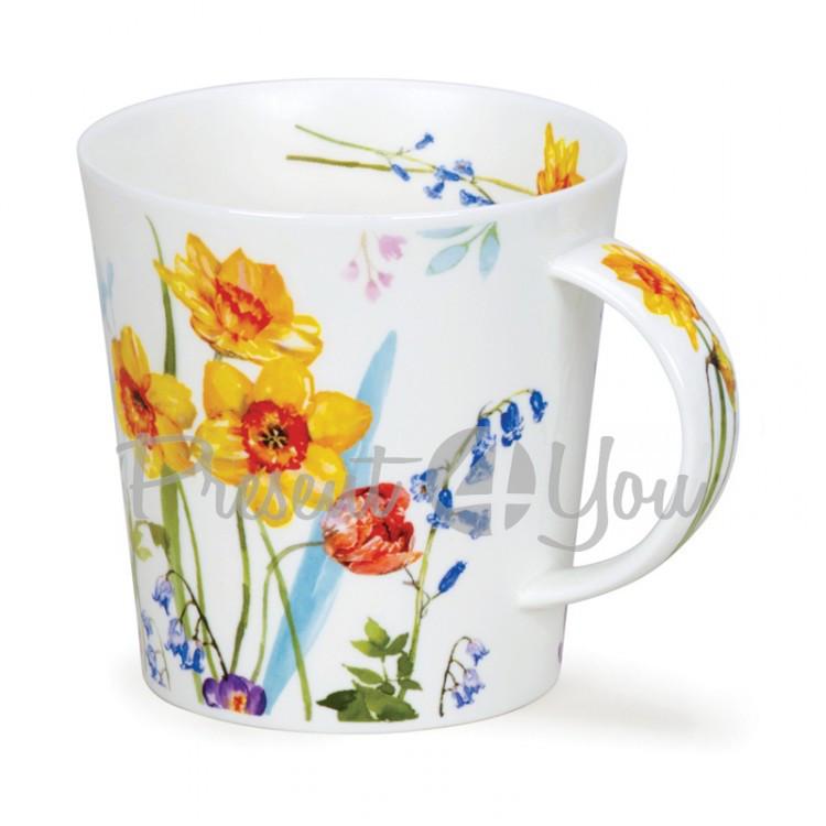Кружка фарфоровая, Англия «CairnGorm country garden daffodil» Dunoon, 480 мл, h-10,4см