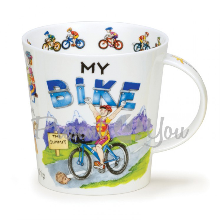 Кружка фарфоровая, Англия «C-Gorm my bike» Dunoon, 480 мл, h-10,4 см