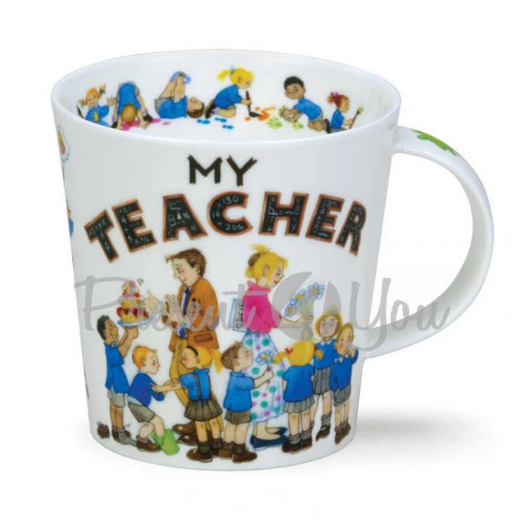 Кружка фарфоровая, Англия«Cairngorm my teacher» Dunoon, 480 мл, h-10,4 см