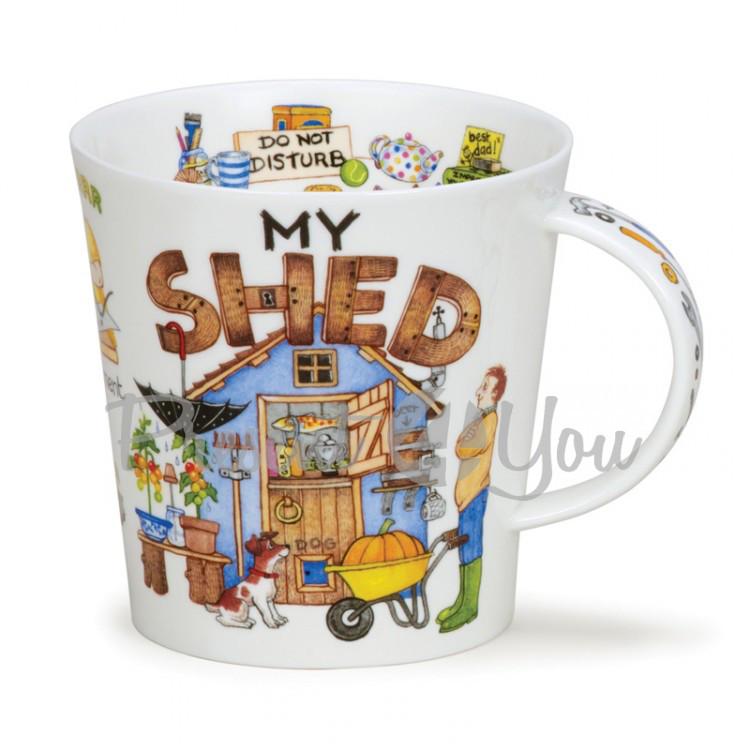 Кружка фарфоровая, Англия «C-Gorm my shed» Dunoon, 480 мл, h-10,4 см