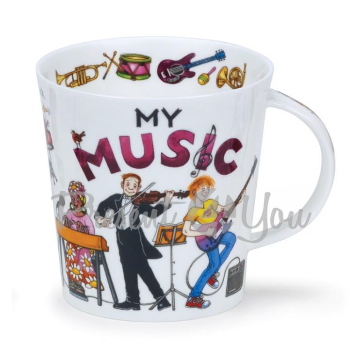 Кружка фарфоровая, Англия «Cairngorm my music» Dunoon, 480 мл, h-10,4см