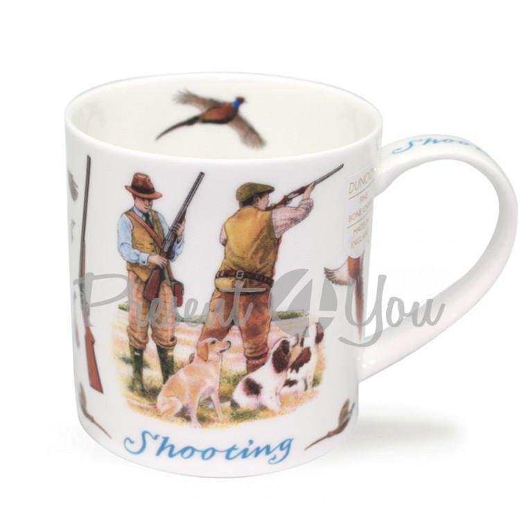 Кружка фарфоровая, Англия «Shooting» Dunoon, 350 мл, h-9 см