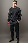 Мужской спортивный костюм Эполь, цвет черный / размерный ряд 50,52, фото 2
