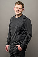 Мужской спортивный костюм Эполь, цвет черный / размерный ряд 50,52, фото 3
