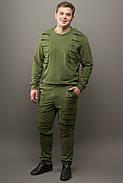 Мужской спортивный костюм Эполь, цвет хаки / размерный ряд 48,50,52,54, фото 2