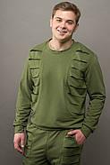 Мужской спортивный костюм Эполь, цвет хаки / размерный ряд 48,50,52,54, фото 3