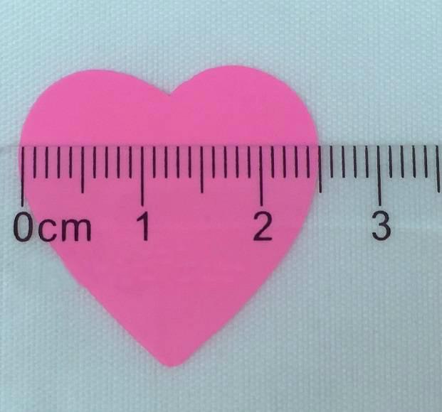 Конфетти сердечки маленькие, розовые, 100 грамм