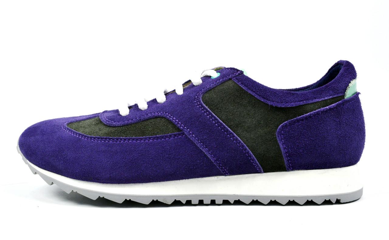 Фиолетовые женские замшевые кроссовки LEONY