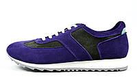 Фиолетовые женские замшевые кроссовки LEONY , фото 1