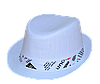 Шляпа детская челентанка х/б белый+украшение