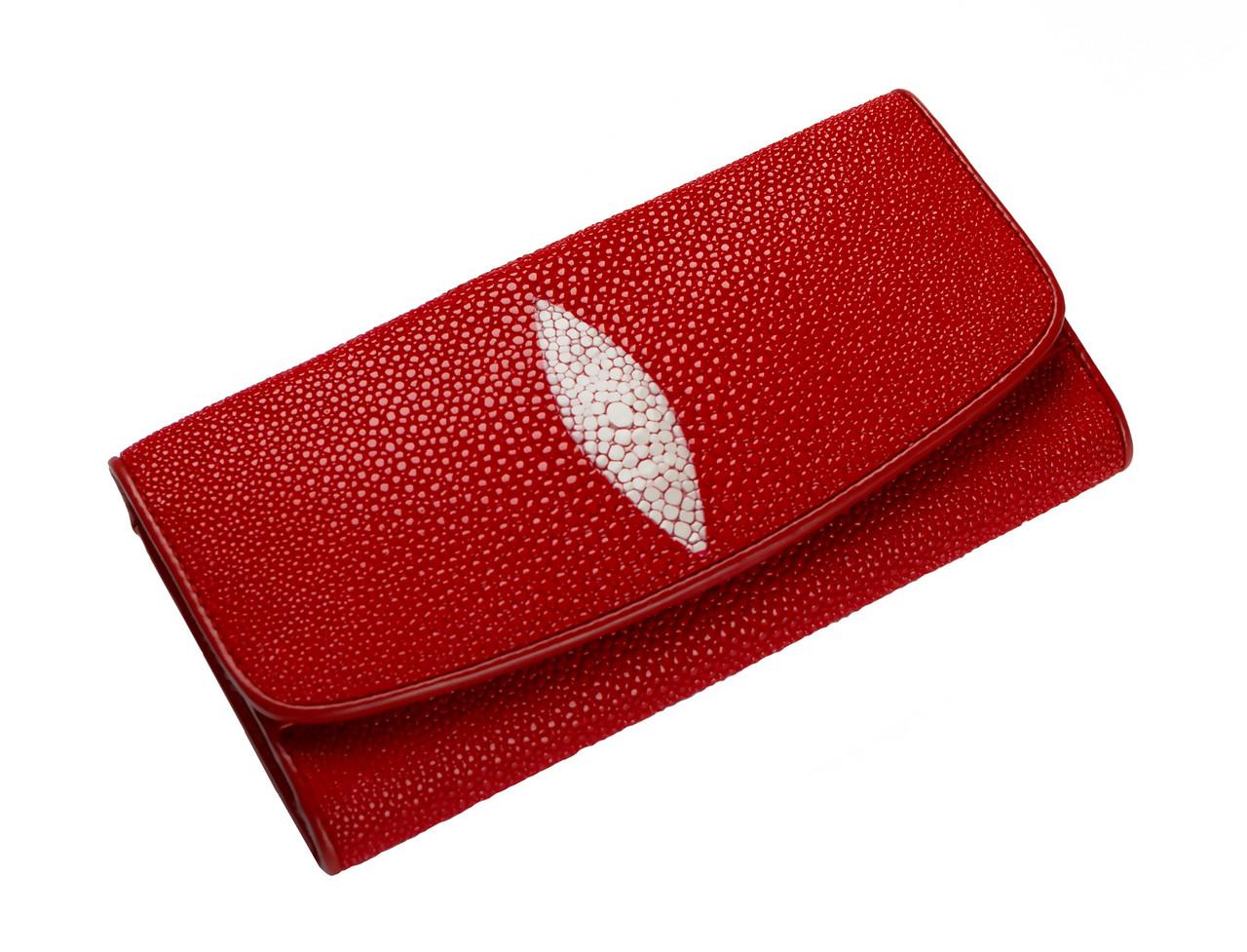 Кошелек из кожи ската Ekzotic leather Красный (stw 20)
