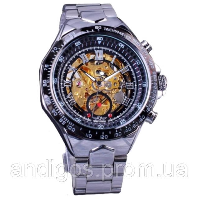 Механические мужские часы WINNER ACTION SILVER 24b15979fa6d1