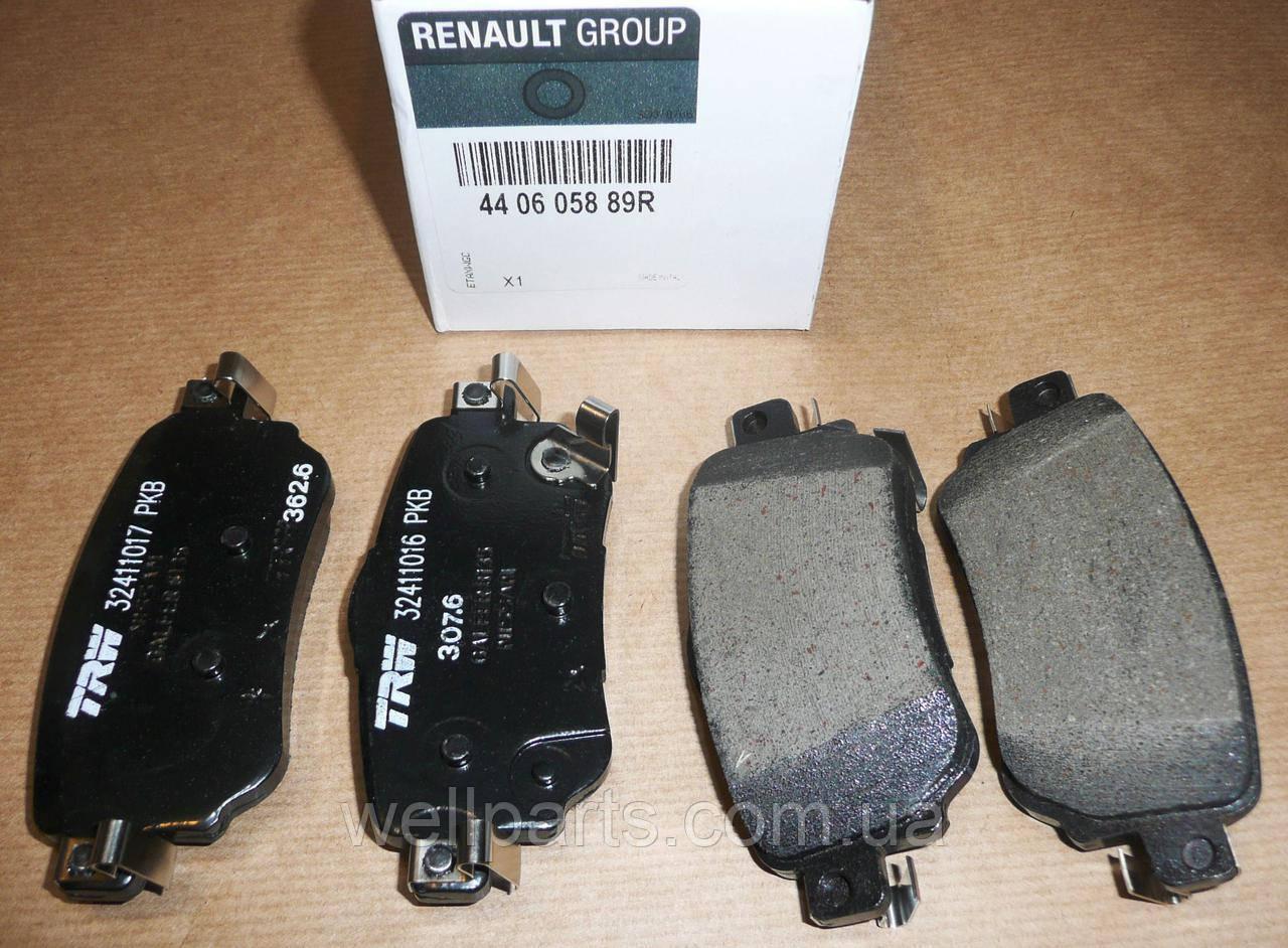 Комплект задних тормозных колодок на Рено Каджар Renault 440605889R (оригинал), фото 1