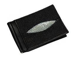 Затиск для грошей зі шкіри морського скату Ekzotic Leather Чорний (ctc 01)