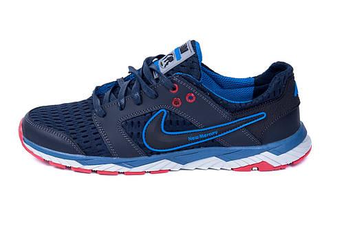 Мужские летние кроссовки сетка Nike NM blue