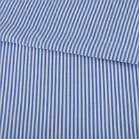 321897492 - Ткань рубашечная в бело-голубую полоску, ш.145