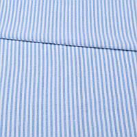 321957492 - Ткань рубашечная в бело-голубую полоску ш.145