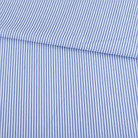 321907492 - Ткань рубашечная в бело-голубую полоску 2мм, ш.145