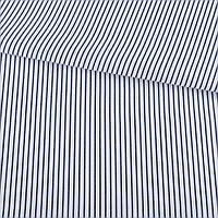 321917492 - Ткань рубашечная белая в узкую синюю полоску ш.150