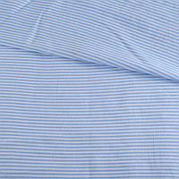 321927492 - Ткань рубашечная в бело-голубую поперечную полоску ш.144