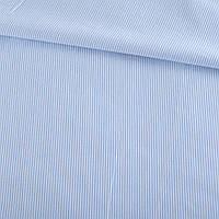 321937492 - Ткань рубашечная в узкую бело-голубую полоску, ш.146