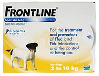 FrontLine Spot On Dog Капли на холку для собак от блох и клещей