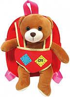 Детский рюкзак-игрушка Сool For School Bear, CF86009, красный