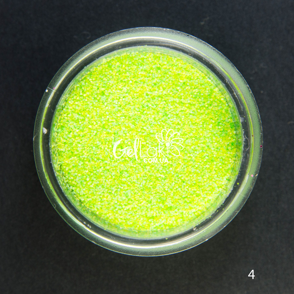Меланж для дизайна ногтей (зеленый неоновый и зеленый), 04