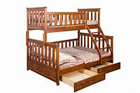 Детская кровать от 3 лет двухъярусная с ящиками  для хранения «Жасмин» , фото 1